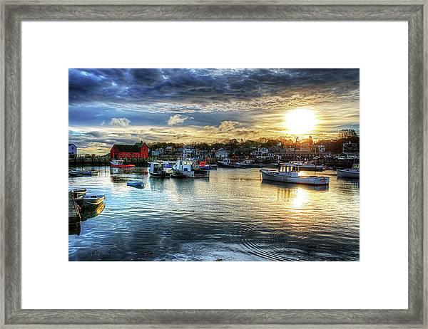 Motif #1 Sunrise Rockport Ma Framed Print