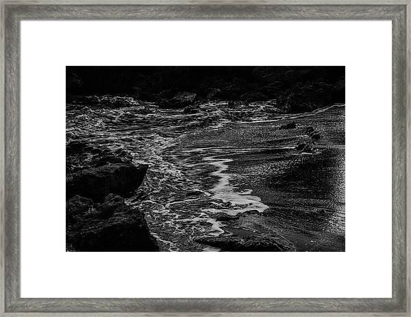 Motion In Black And White Framed Print