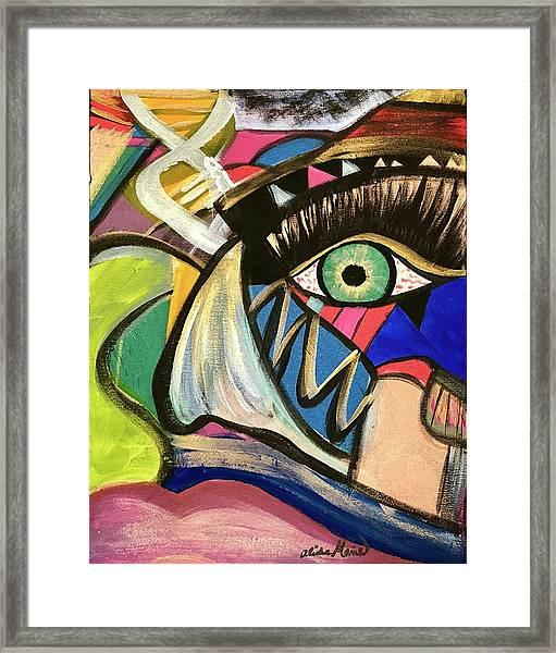 Motley Eye 3 Framed Print