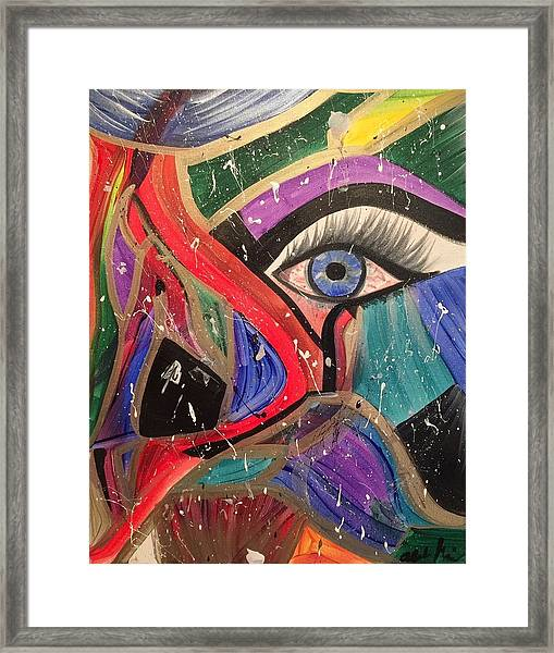 Motley Eye Framed Print