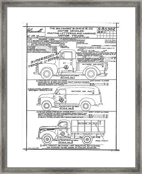 Motor Vehicles Framed Print