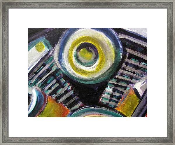 Motorcycle Abstract Engine 2 Framed Print