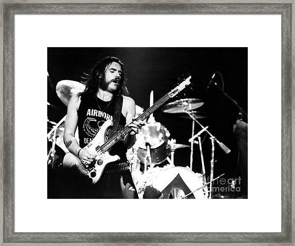 Motorhead Lemmy 1979 Framed Print by Chris Walter