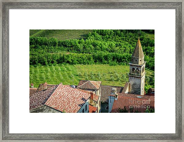 Motovun Istrian Hill Town - A View From The Ramparts, Istria, Croatia Framed Print