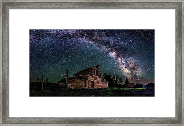 Moulton Barn Milky Way Framed Print