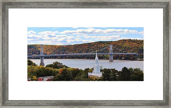 Mount Carmel And The Mid Hudson Bridge Framed Print