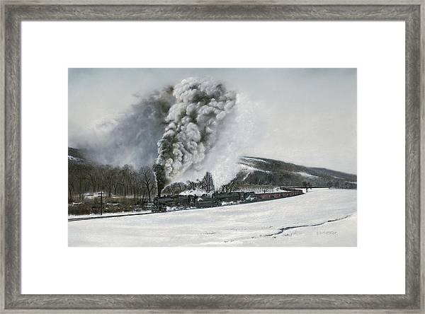 Mount Carmel Eruption Framed Print