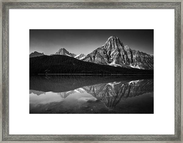 Mount Chephren Reflection Framed Print
