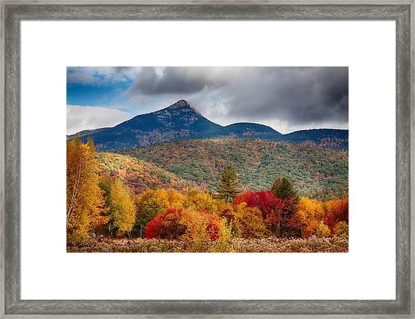 Peak Fall Colors On Mount Chocorua Framed Print