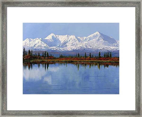 mount Denali in Alaska Framed Print