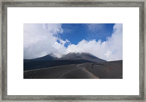 Mount Etna Framed Print