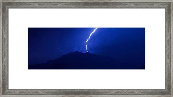Mount Franklin Lightning Framed Print