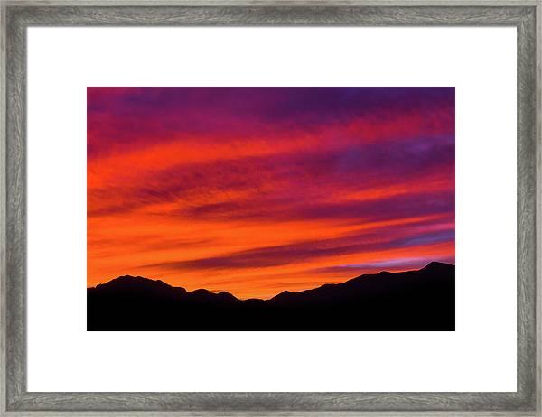 Mount Franklin Purple Sunset Framed Print