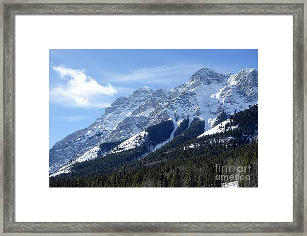 Mount Kidd Framed Print