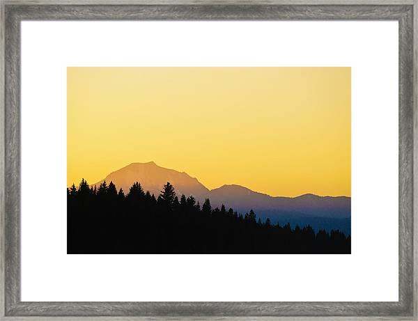 Mount Lassen At Sunset Framed Print