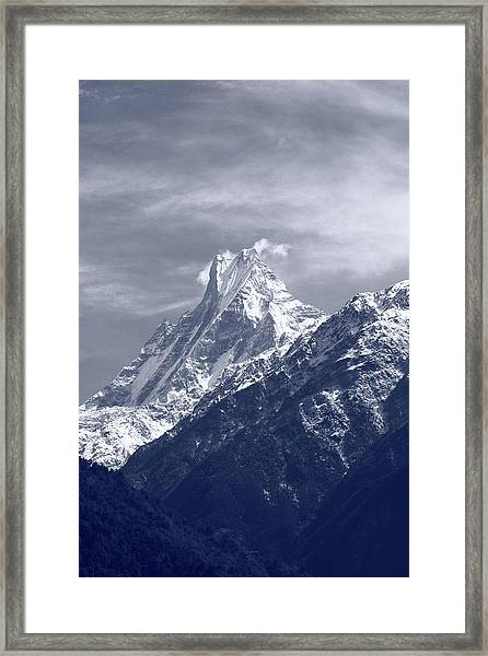 Mount Machapuchare, The Himalayas, Nepal Framed Print