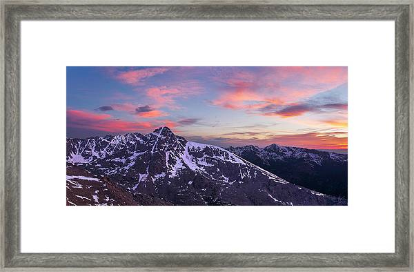 Mount Of The Holy Cross Panorama Framed Print by Aaron Spong