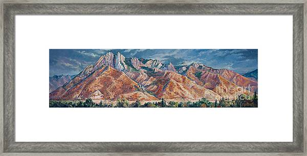 Mount Olympus In Autumn  Framed Print