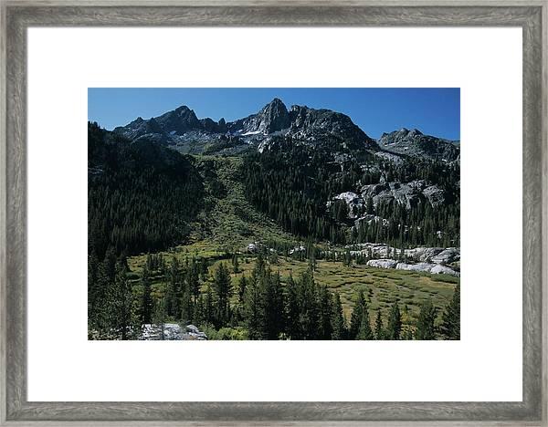 Mount Ritter Shadow Creek And Granite Rocks Framed Print