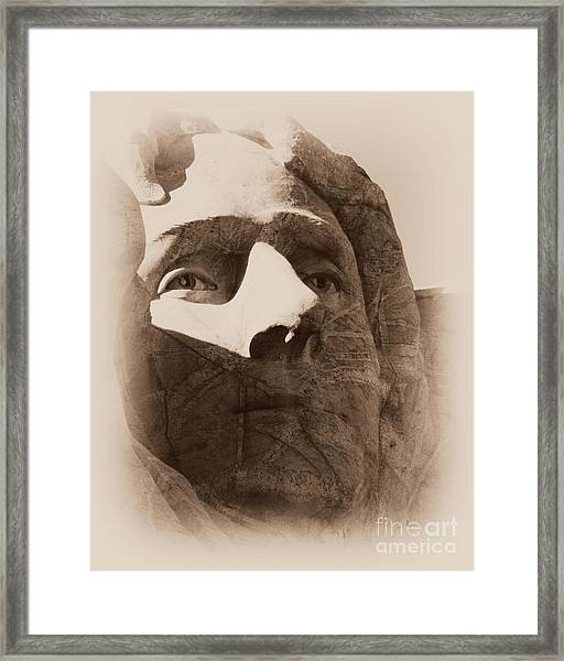 Mount Rushmore Faces Jefferson Framed Print
