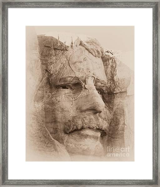 Mount Rushmore Faces Roosevelt Framed Print