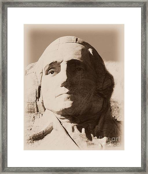 Mount Rushmore Faces Washington Framed Print