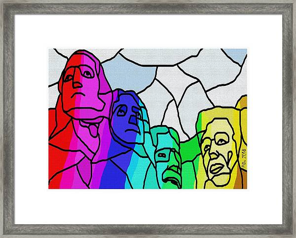 Mount Rushmore Framed Print