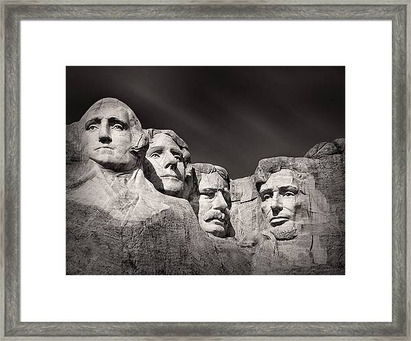 Mount Rushmore South Dakota Usa Framed Print