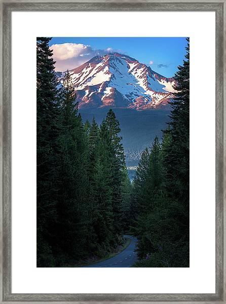 Mount Shasta - A Roadside View Framed Print