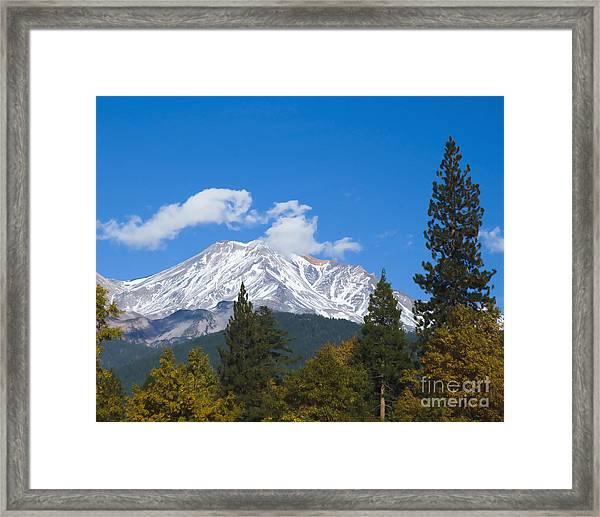 Mount Shasta California Framed Print