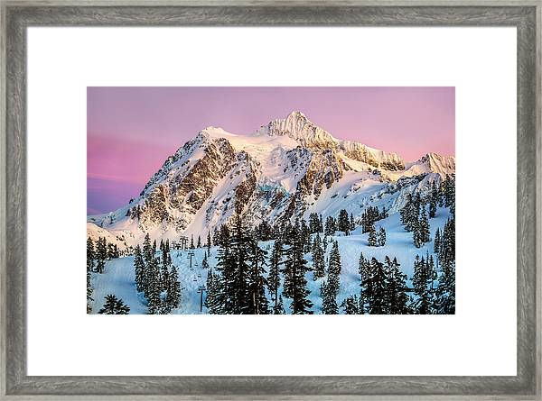 Mount Shuksan At Sunset Framed Print