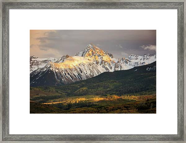 Mount Sneffels Sunset Framed Print