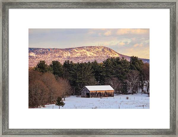Mount Tom View From Southampton Framed Print