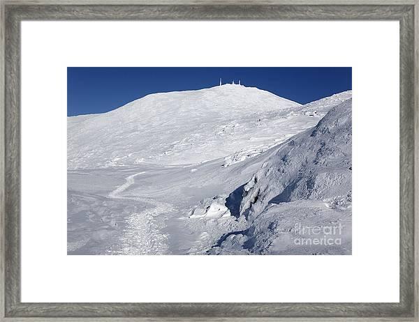 Mount Washington - White Mountain New Hampshire Usa Winter Framed Print