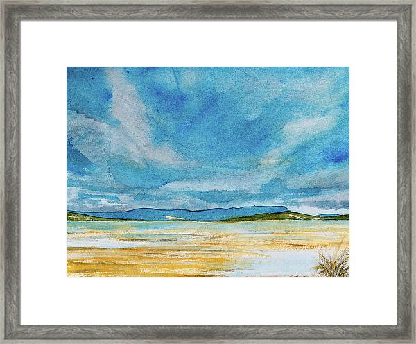 View Of Mount Wellington From South Bruny Island Framed Print