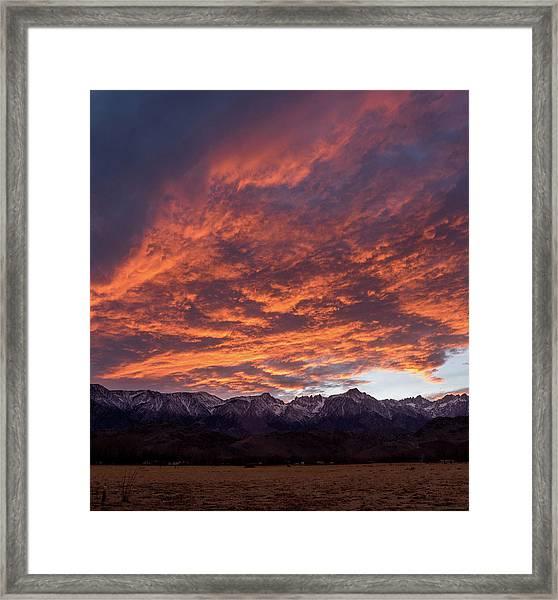 Mount Whitney Framed Print