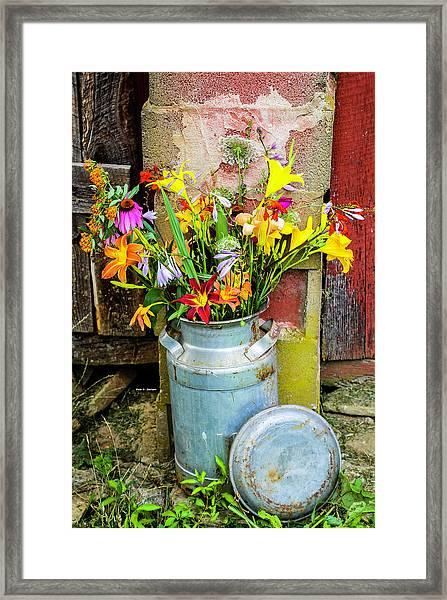 Mountain Bouquet Framed Print