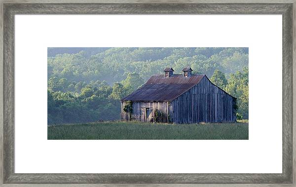 Mountain Cabin Framed Print
