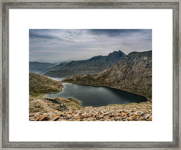 Framed Print featuring the photograph Mountain Hike by Nick Bywater