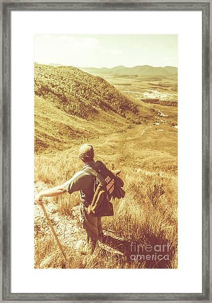 Mountain Hiking Australia Framed Print