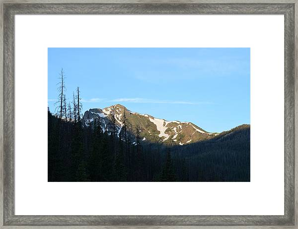 Mountain In Rocky Mountian Np Co Framed Print