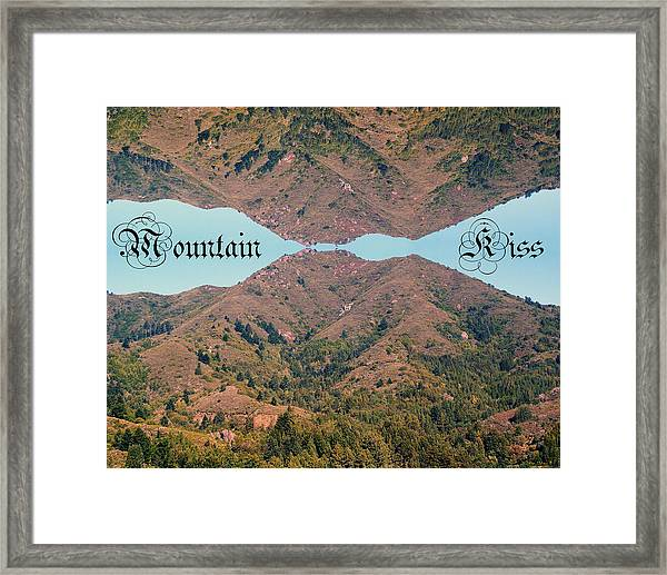 Mountain Kiss  Framed Print