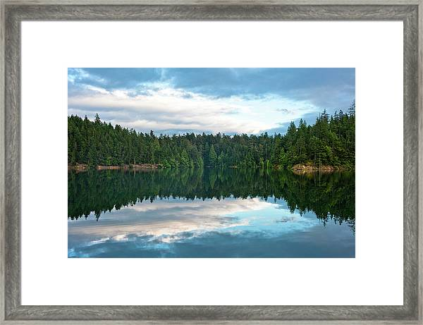 Mountain Lake Reflection Framed Print