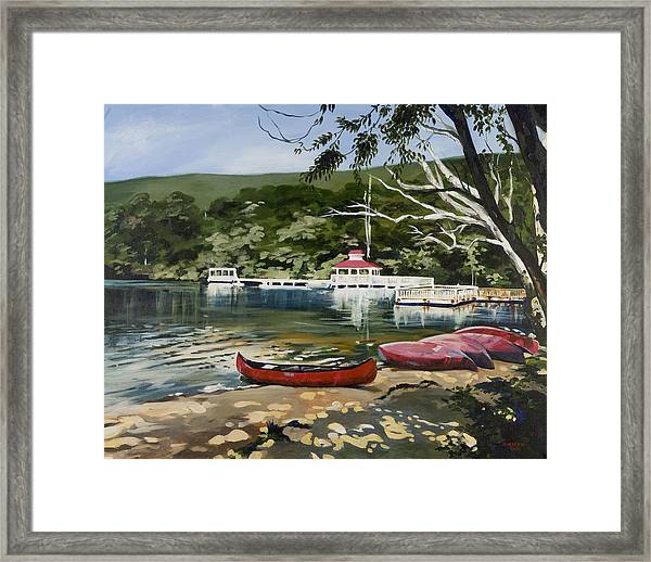 Mountain Lake Summer Framed Print