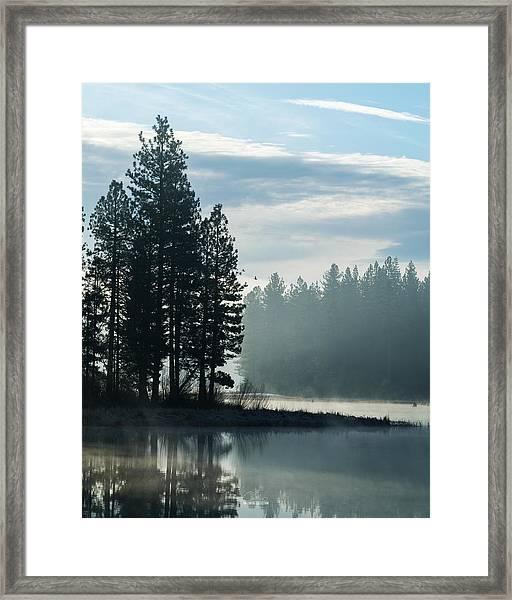Mountain Meadows Reservoir At Dawn Framed Print