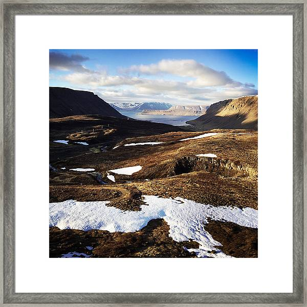Mountain Pass In Iceland Framed Print