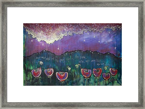 Framed Print featuring the painting Mountain Poppies by Laurie Maves ART
