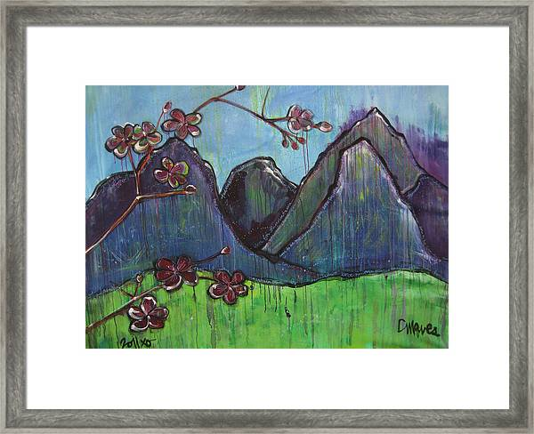 Framed Print featuring the painting Copper Mountain Pose by Laurie Maves ART