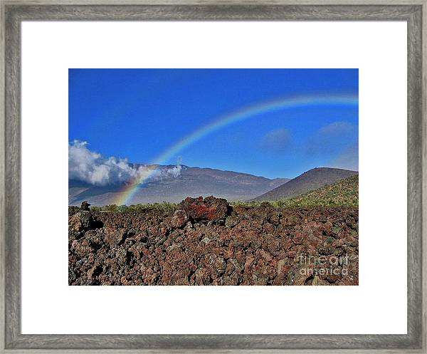 Mountain Rainbow Framed Print