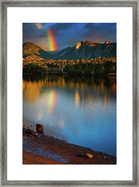 Framed Print featuring the photograph Mountain Rainbows by John De Bord